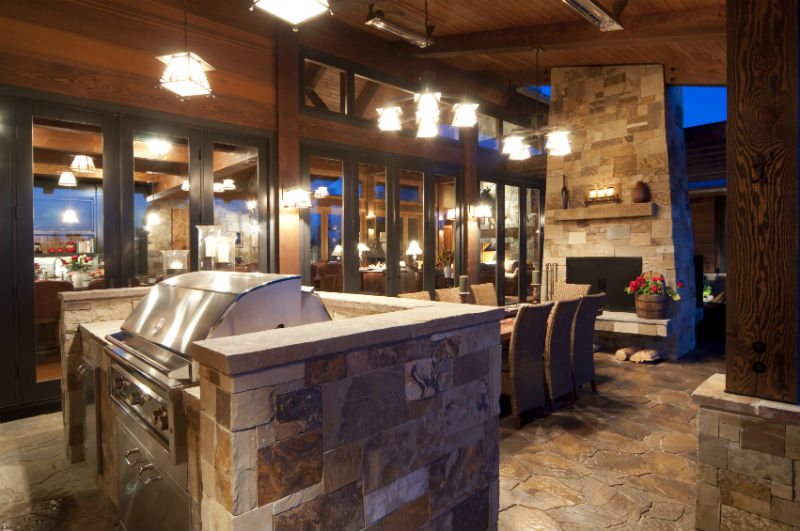 outdoor kitchen & living | spring tx | the woodlands tx | north