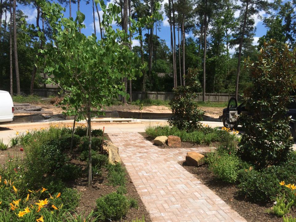Home deck builder landscaping flagstone spring tx for Punch home and landscape design won t install